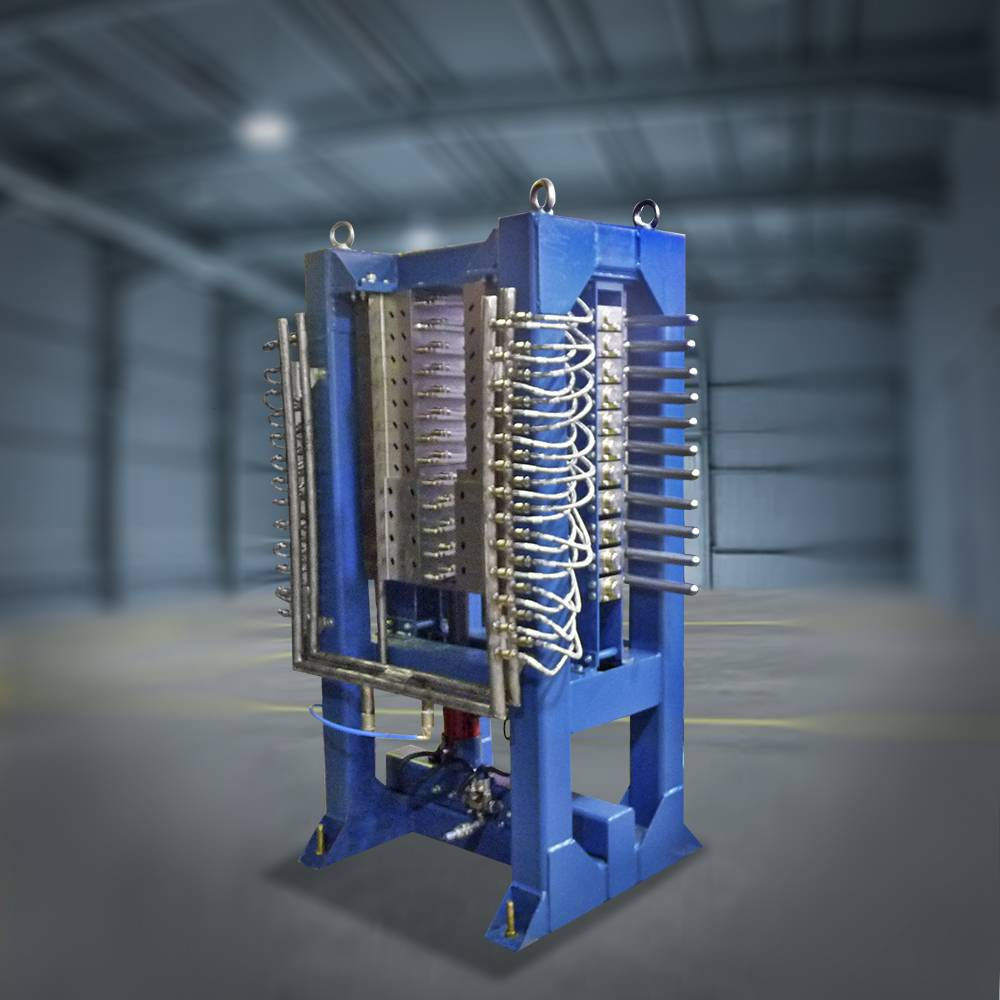 Установка для опрессовки, проверки на пробой и межвитковое замыкание секций катушек якорей тяговых электродвигателей и тяговых генераторов