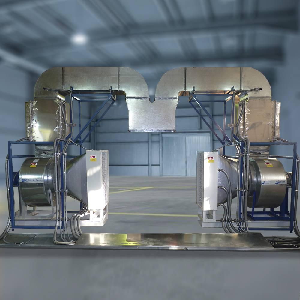 Установка стационарная электрокалориферная для сушки ТЭД (СЭУ-ТЭД)
