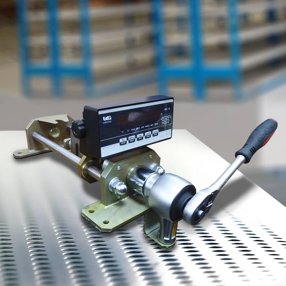 Стенд для наладки устройств контроля усилия стрелочных переводов (УКРУП-12)