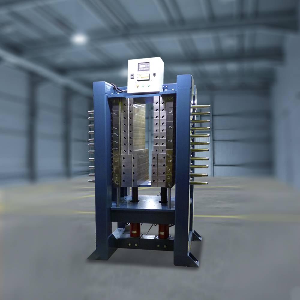 Пресс многоуровневый для опрессовки секций  катушек якорей тяговых электродвигателей и  тяговых генераторов тепловозов ТЭМ-2 и ТЭМ-18